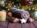 tronco de navidad con galletas