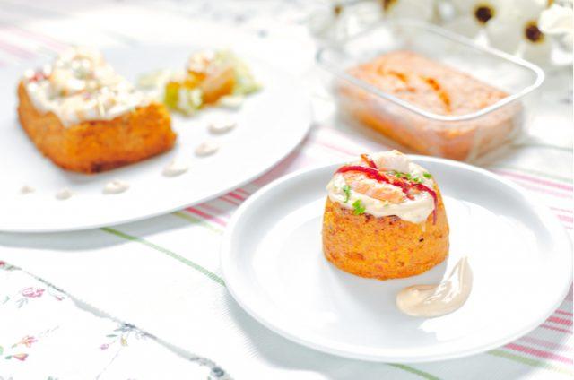 Receta de pastel de salmón y gambas