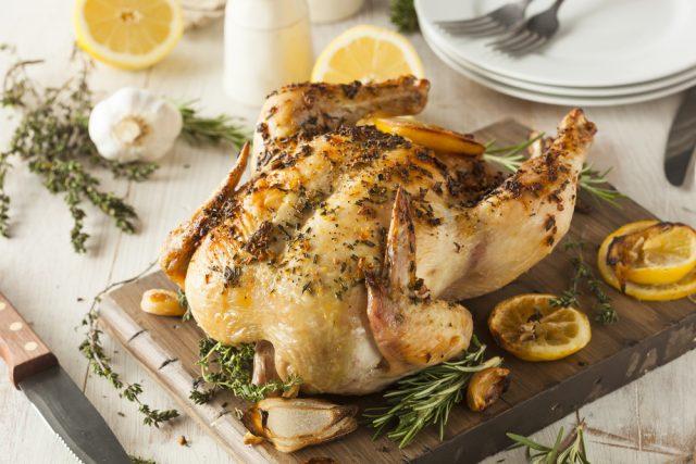 Receta de pollo al horno con limón