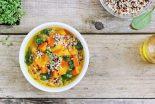 caldo de pollo con quinoa