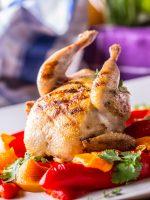 Receta de codorniz al horno con verduras