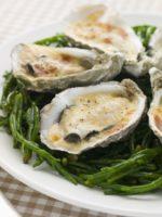 Receta de ostras gratinadas con salsa holandesa