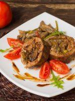 Receta de redondo de ternera relleno de frutos secos