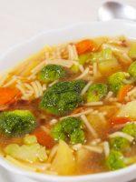 Receta de sopa de verduras con fideos