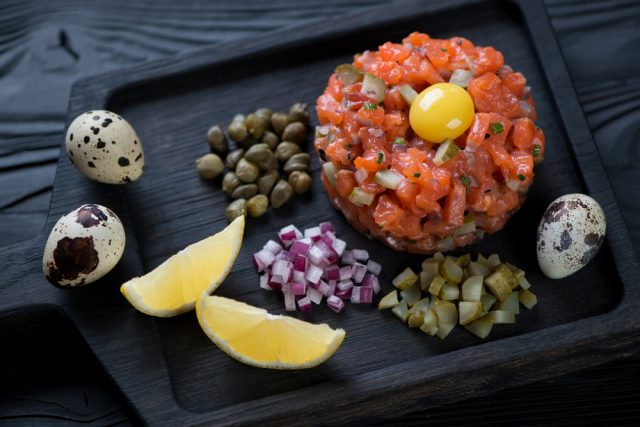 Receta de tartar de salmón con mostaza