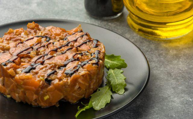 Receta de tartar de salmón thermomix