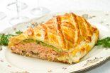 pastel de salmon con hojaldres