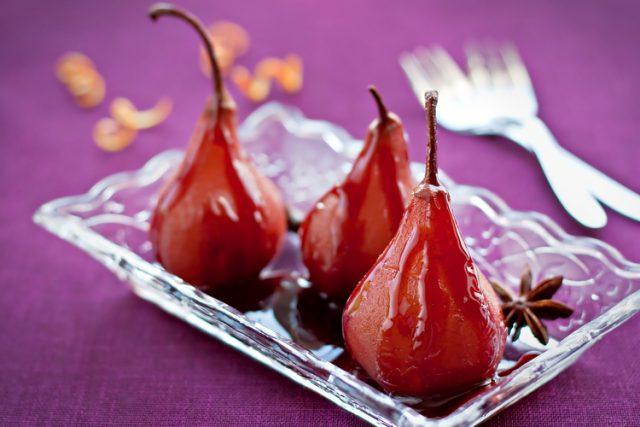 Receta de peras al vino thermomix