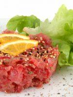 Receta de tartar de atún japonés