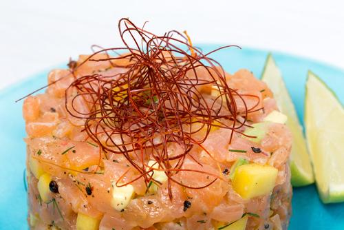 Receta de tartar de salmón con mango