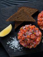 Receta de tartar de salmón con trufa