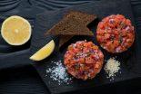 tartar de salmon con trufa