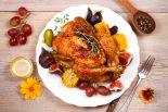 Pollo asado con vino blanco