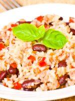 Receta de arroz con habichuelas y bacalao