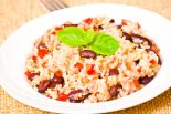 arroz con habichuelas y bacalao
