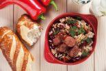 arroz con habichuelas y chorizo