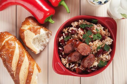 Receta de arroz con habichuelas y chorizo