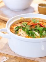 Receta de caldo de gallina con quinoa