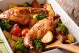conejo al horno con verduras