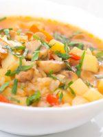 Receta de consomé de verduras con arroz