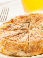 Receta de tortilla de patatas con setas