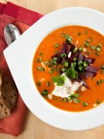 Receta de sopa de tomate extremeña