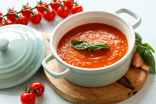 Receta de sopa de tomate light