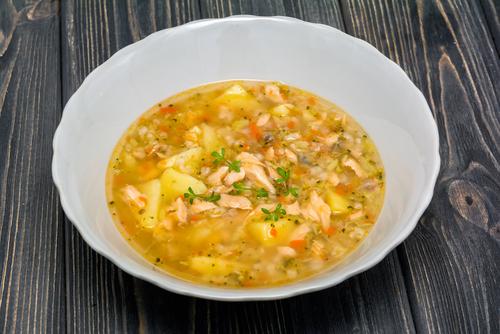 Receta de arroz con bacalao caldoso