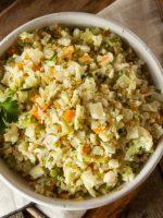 Receta de arroz con bacalao y coliflor