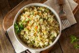 arroz con bacalao y coliflor
