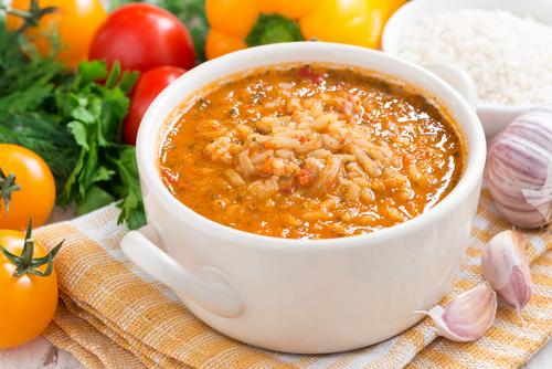 Receta de arroz con bacalao y espinacas