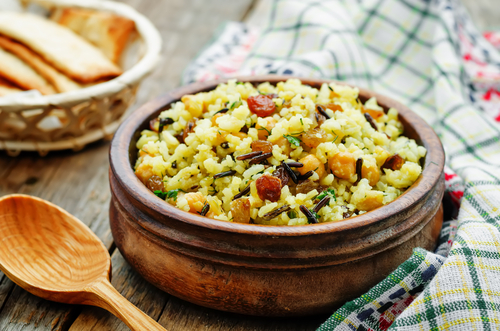 Receta de arroz con bacalao y garbanzos