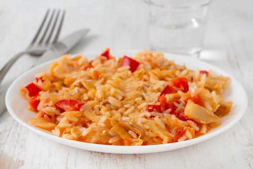 Receta de arroz con bacalao y tomate