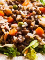 Receta de ensalada de arroz con lentejas