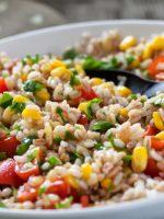 Receta de ensalada de arroz frío