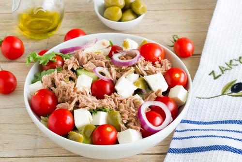 Receta de ensalada de atún y tomate