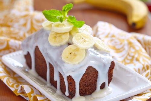 Receta de bizcocho de plátano y yogur