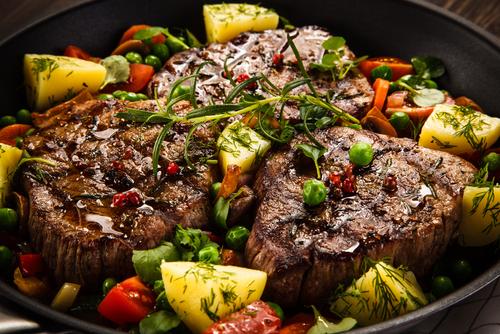 Receta de lomo al horno con verduras