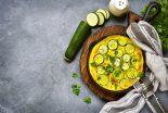 tortilla de bacalao y calabacin