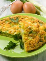 Receta de tortilla de bacalao y cebolla