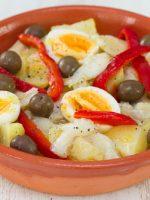 Receta de ensalada de bacalao con pimientos