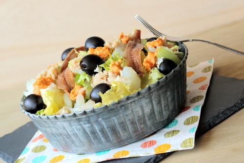 Receta de ensalada de bacalao y escarola