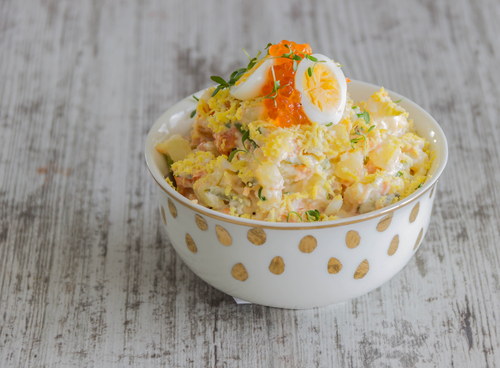 Receta de ensalada de bacalao y patatas