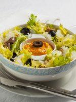 Receta de ensalada de bacalao con romesco
