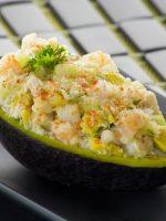 Receta de ensalada de cangrejo con aguacate