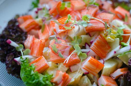 Receta de ensalada de cangrejo ecuatoriano