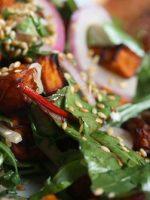 Receta de ensalada de espinacas y pollo