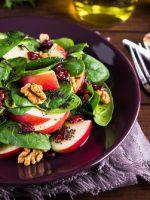 Receta de ensalada de espinacas y manzana
