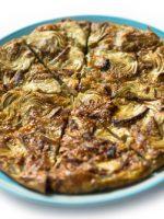 Receta de tortilla de alcachofas congeladas