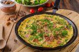 tortilla de esparragos con jamon